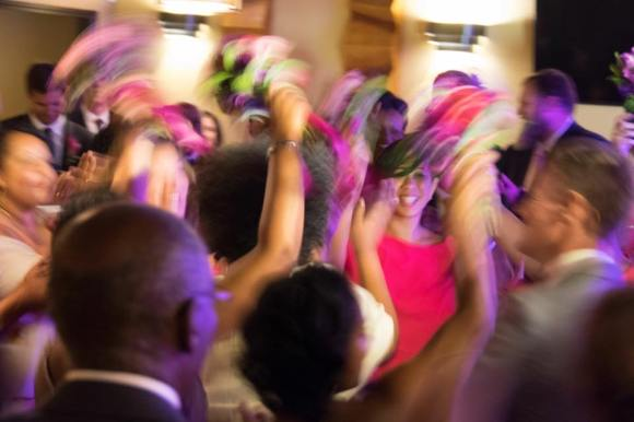 This captures the excitement of the weekend's dancing.
