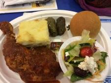 Tasty dinner plate